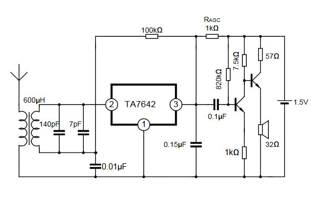 Ta7642 Am Radio Receiver Schematic - Wiring Diagrams User
