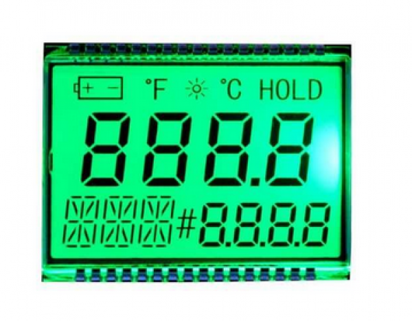 GDC1038 Segment LCD Display + Backlight red / green