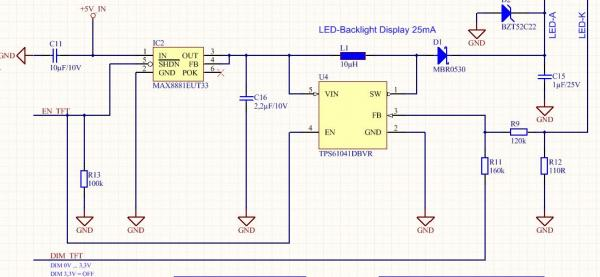 LED-Backlight TFT-Display